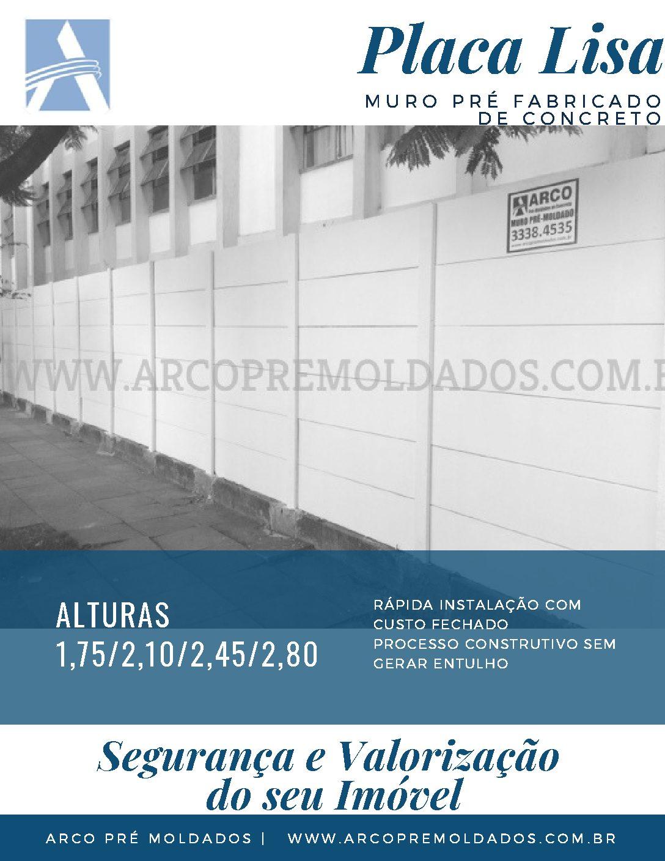 MURO PADRÃO PLACA LISA
