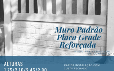 NOVO MURO PLACA REFORÇADA VAZADA